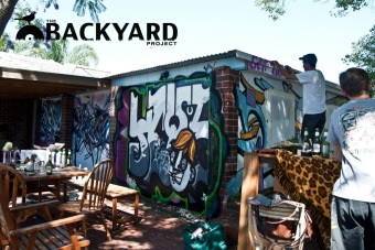 Backyard graff