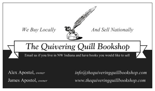 The Quivering Quill Bookshop Card